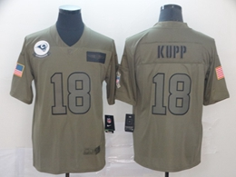 Mens 2019 Nfl Los Angeles Rams #18 Cooper Kupp Green Salute To Service Limited Jersey