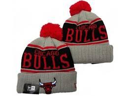 Mens Nba Chicago Bulls Red&black&gray Sport Knit Hats