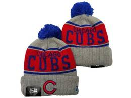 Mens Mlb Chicago Cubs Blue&red&gray Sport Knit Hats