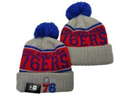 Mens Nba Philadelphia 76ers Blue&red&gray Sport Knit Hats