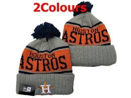 Mens Mlb Houston Astros Gray&orange Sport Knit Hats 2 Colors