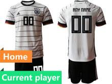 Youth 20-21 Soccer Germany Ntaional Team Current Player White Home Short Sleeve Suit Jersey