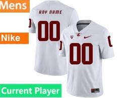 Mens Ncaa Washington State Cougars Current Player White Jersey