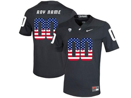 Mens Ncaa Washington State Current Player Cougars Carbon Black Usa Flag Jersey