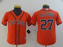 Women Youth Mens Mlb Houston Astros #27 Jose Altuve Orange Cool Base Jersey