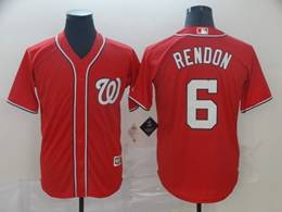 Mens Mlb Washington Nationals #6 Anthony Rendon Red Cool Base Jersey