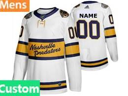 Mens Nhl Nashville Predators Custom Made White 2019 Winter Classic Adidas Jersey