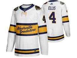 Mens Nhl Nashville Predators #4 Ryan Ellis White 2019 Winter Classic Adidas Jersey