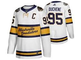 Mens Nhl Nashville Predators #95 Matt Duchene White 2019 Winter Classic Adidas Jersey