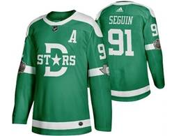 Mens Nhl Dallas Stars #91 Tyler Seguin Green 2019 Winter Classic Adidas Jersey