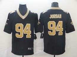 Mens Nfl New Orleans Saints #94 Jordan Black Vapor Untouchable Limited Jersey