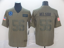 Mens Nfl Indianapolis Colts #56 Quenton Nelson Green 2019 Salute To Service Limited Jersey