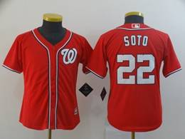 Women Youth Mlb Washington Nationals #22 Juan Soto Red Cool Base Jersey