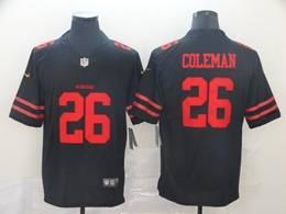 Mens Nfl San Francisco 49ers #26 Tevin Coleman Black Vapor Untouchable Limited Jersey
