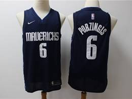 Mens 2019-20 Nba Dallas Mavericks #6 Kristaps Porzingis Dark Blue Nike Swingman Jersey