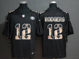 Mens Nfl Green Bay Packers #12 Aaron Rodgers Black Statue Of Liberty Vapor Untouchable Limited Jerseys