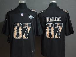 Mens Nfl Kansas City Chiefs #87 Travis Kelce Black Statue Of Liberty Vapor Untouchable Limited Jerseys