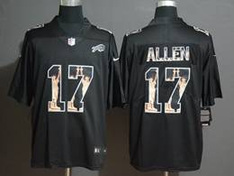 Mens Nfl Buffalo Bills #17 Josh Allen Black Statue Of Liberty Vapor Untouchable Limited Jerseys