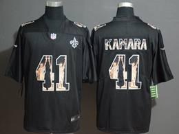 Mens Nfl New Orleans Saints #41 Alvin Kamara Black Statue Of Liberty Vapor Untouchable Limited Jerseys