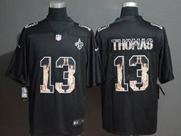 Mens Nfl New Orleans Saints #13 Michael Thomas Black Statue Of Liberty Vapor Untouchable Limited Jerseys