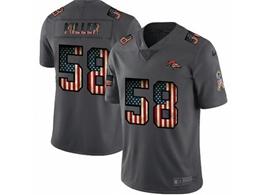 Mens Nfl Denver Broncos #58 Von Miller Black Pays Tribute To Retro Flag Carbon Nike Limited Jerseys
