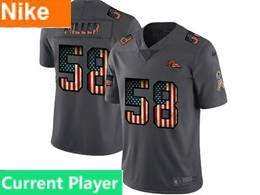 Mens Nfl Denver Broncos Current Player Black Pays Tribute To Retro Flag Carbon Nike Limited Jerseys