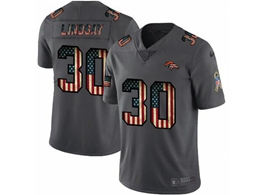 Mens Nfl Denver Broncos #30 Phillip Lindsay Black Pays Tribute To Retro Flag Carbon Nike Limited Jerseys