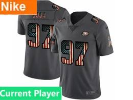 Mens Nfl San Francisco 49ers Current Player Black Pays Tribute To Retro Flag Carbon Nike Limited Jerseys