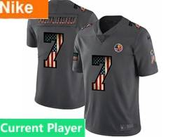 Mens Nfl Pittsburgh Steelers Current Player Black Pays Tribute To Retro Flag Carbon Nike Limited Jerseys