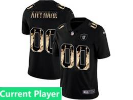 Mens Nfl Oakland Raiders Current Player Black Statue Of Liberty Vapor Untouchable Limited Jerseys
