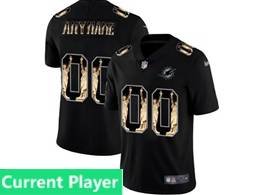 Mens Miami Dolphins Current Player Black Statue Of Liberty Vapor Untouchable Limited Jerseys