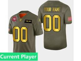 Mens Nfl San Francisco 49ers Current Player 2019 Green Olive Gold Number Salute To Service Limited Jersey