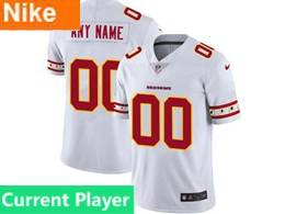 Men Nfl Washington Redskins Current Player White Team Logo Cool Edition Vapor Untouchable Limited Jerseys