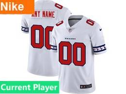 Mens Nfl Houston Texans Current Player White Team Logo Cool Edition Vapor Untouchable Limited Jerseys