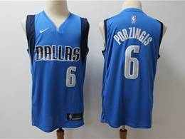 Mens Nba Dallas Mavericks #6 Kristaps Porzingis Light Blue Nike Swingman Jersey