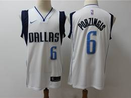 Mens Nba Dallas Mavericks #6 Kristaps Porzingis White Nike Swingman Jersey