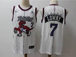 Mens Nba Toronto Raptors #7 Kyle Lowry White New Season Hardwood Classics Nike Swingman Jersey