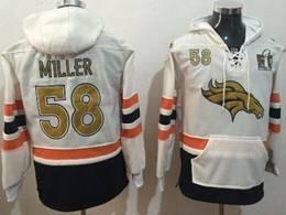 Mens Nfl Denver Broncos #58 Von Miller White With Pocket Team Hoodie Jersey