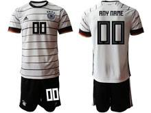 Mens 20-21 Soccer Germany Ntaional Team ( Custom Made ) White Home Adidas Short Sleeve Suit Jersey