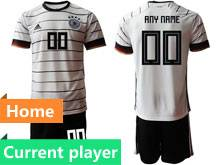 Mens Soccer Germany Ntaional Team Current Player White 2020 European Cup Home Adidas Short Sleeve Suit Jersey