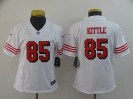 Women Nfl San Francisco 49ers #85 George Kittle White Color Rush Vapor Untouchable Limited Jersey