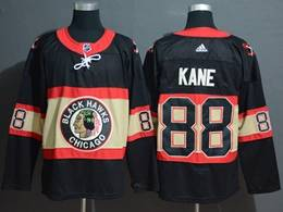 Mens Nhl Chicago Blackhawks #88 Patrick Kane Black Inverted Legend Adidas Jersey