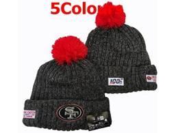 Mens Nfl San Francisco 49ers 100th New Sport Knit Hats 5 Colors
