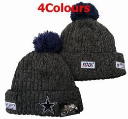 Mens Nfl Dallas Cowboys Blue&black 100th New Sport Knit Hats 4 Colors