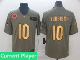 Mens Nfl Chicago Bears Current Player 2019 Green Olive Gold Number Salute To Service Limited Jersey