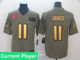Mens Nfl Atlanta Falcons Current Player 2019 Green Olive Gold Number Salute To Service Limited Jersey