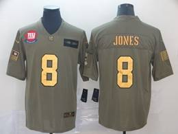 Mens Nfl New York Giants #8 Daniel Jones 2019 Green Olive Gold Number Salute To Service Limited Jersey