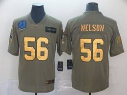 Mens Nfl Indianapolis Colts #56 Quenton Nelson 2019 Green Olive Gold Number Salute To Service Limited Jersey