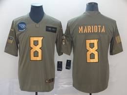 Mens Nfl Tennessee Titans #8 Marcus Mariota 2019 Green Olive Gold Number Salute To Service Limited Jersey