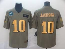 Mens Nfl Philadelphia Eagles #10 Desean Jackson 2019 Green Olive Gold Number Salute To Service Limited Jersey